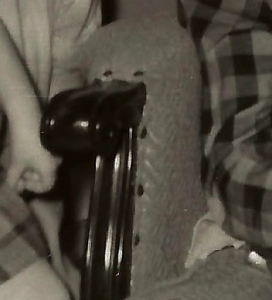 scrolled-wood rocker arm